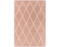 albany diamond pink rug