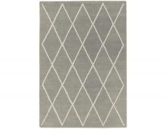albany diamond silver rug