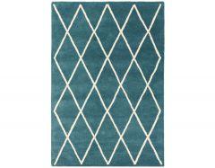 albany diamond teal rug