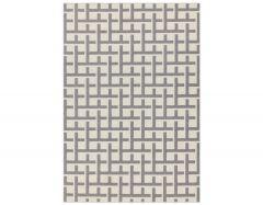 antibes 03 white grey grid rug