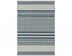 antibes an06 blue cream geometric rug
