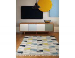 hackney geo mustard rug