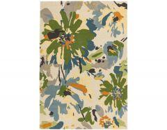 reef rf11 floral green rug