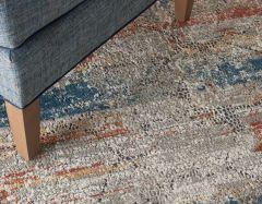 rustic textures rus11 multi colour rug