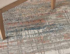 rustic textures rus12 grey multi rug