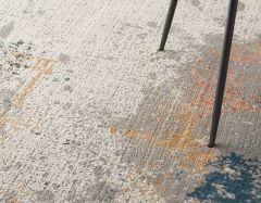 rustic textures rus13 grey blue rug