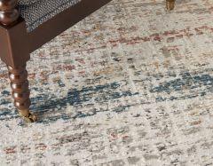 rustic textures rus14 light grey multi rug