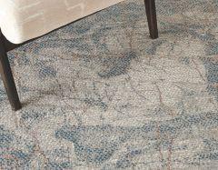 rustic textures rus15 light grey blue rug