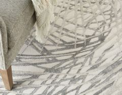 rustic textures rus17 ivory grey rug