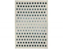 theo silvery square rugs